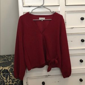 Madewell Large Texture & Thread Wrap Top